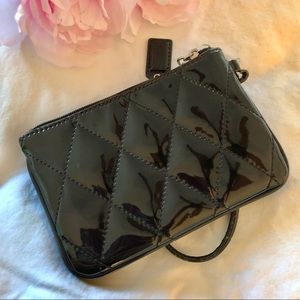 Coach Accessories - COACH • Black Quilted Wristlet